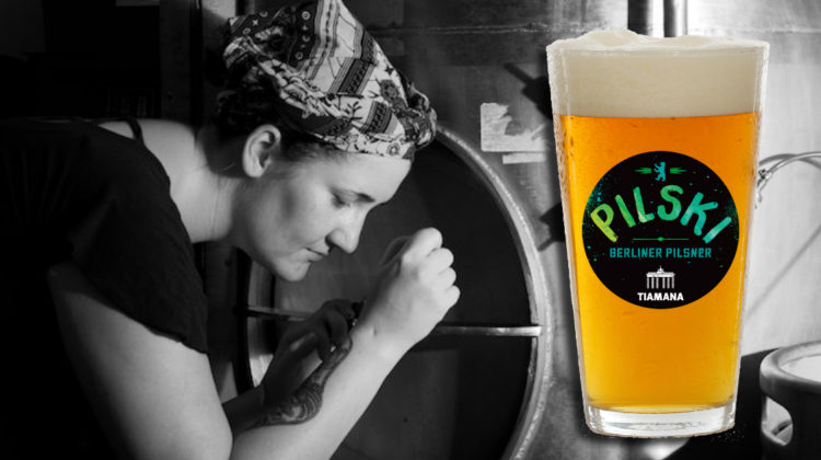 Annika from Tiamana Brewing Company with beer